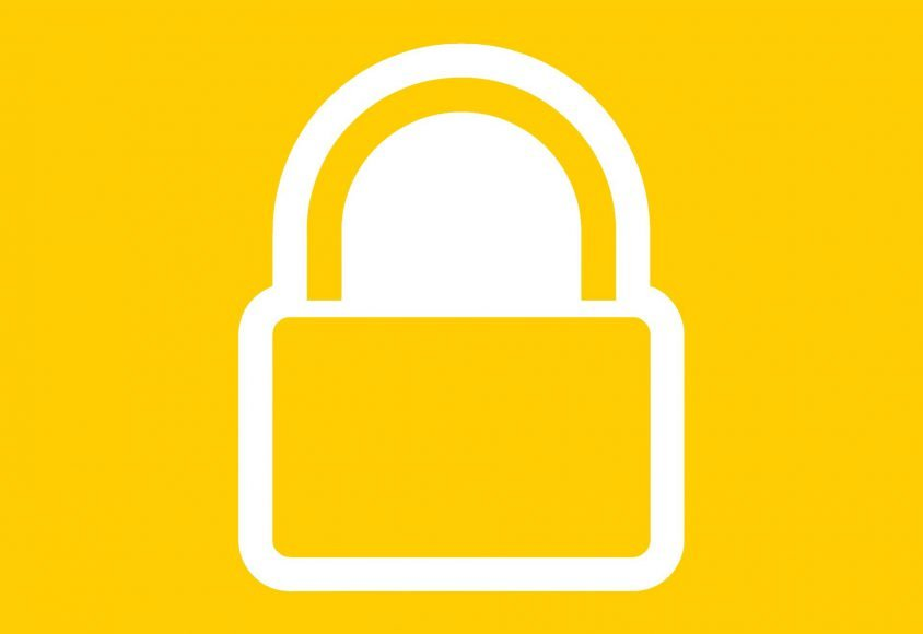 Ikonka kłódki - symbol bezpieczeństwa