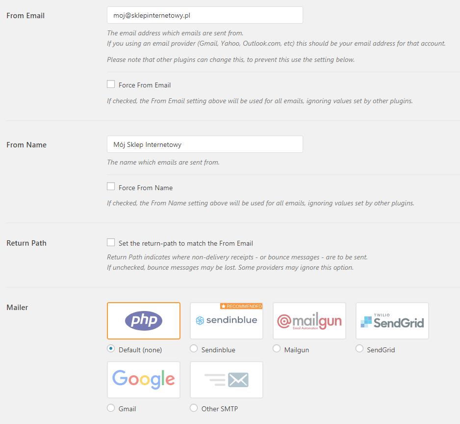 Wykorzystanie wtyczki WooCommerce do zmiany sposobu przesyłania emaili generowanych przez sklep