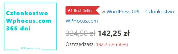 Członkostwo WPhocus - cena