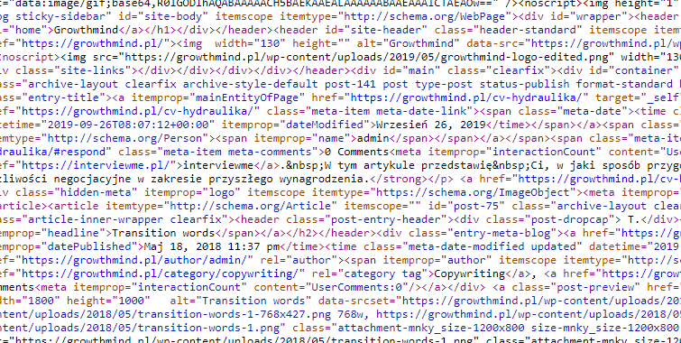 Kod po minifikacji - zrzut ekranu