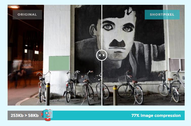Porównanie jakości obrazków po kompresji przez wtyczkę ShortPixel