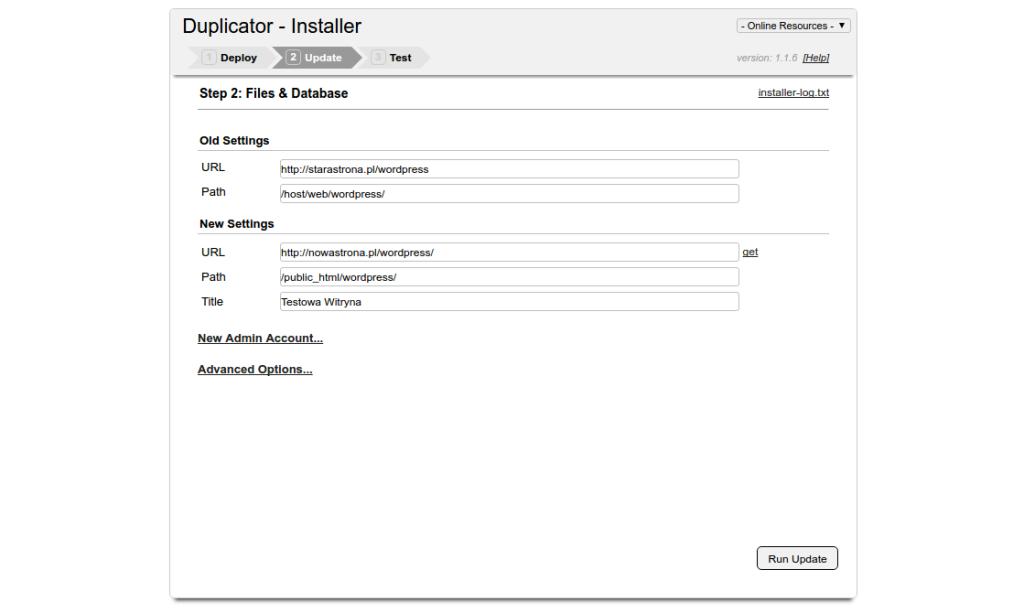 Konfiguracja nowej strony na WordPress z użyciem Duplicatora. Jak przenieść stronę WordPress z użyciem duplicatora?