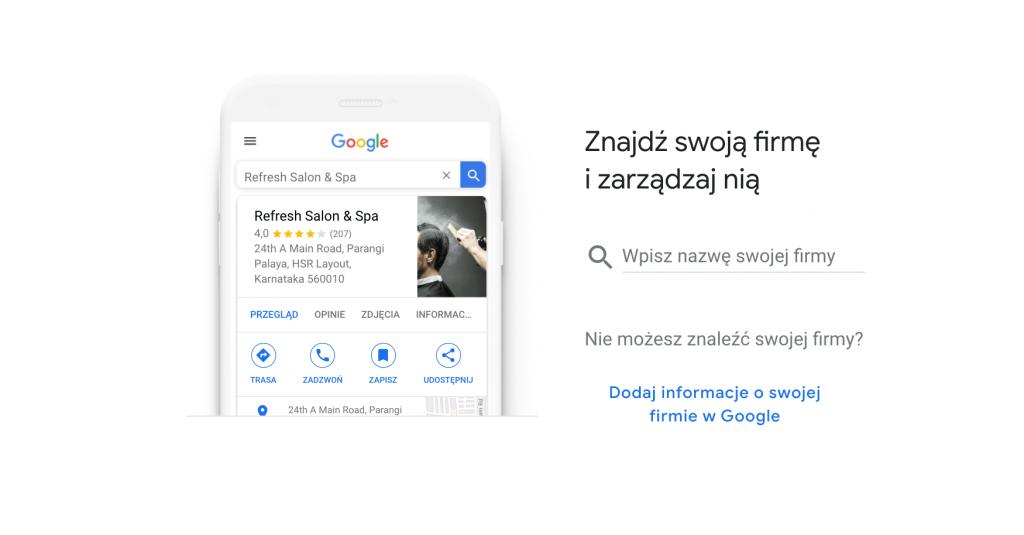 Wizytówka w Google Moja Firma - zarządzanie profilem firmy
