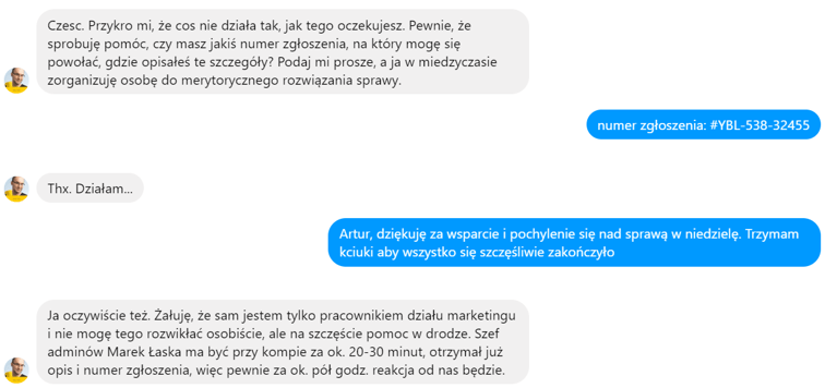 Messenger - obsługa w cyberfolks.pl