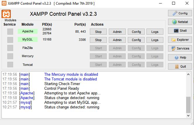 XAMPP to wygodny panel do zarządzania serwerem www oraz MySql.