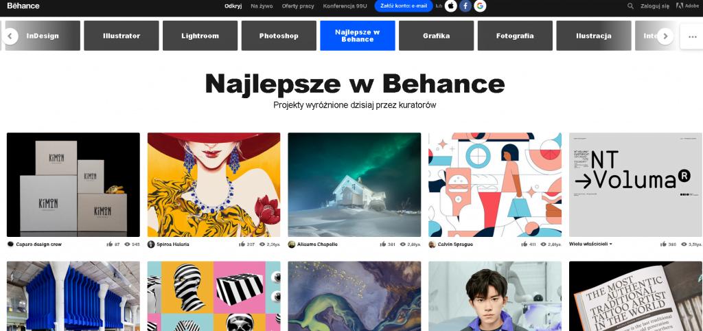 behance - zlecenia dla freelancerów