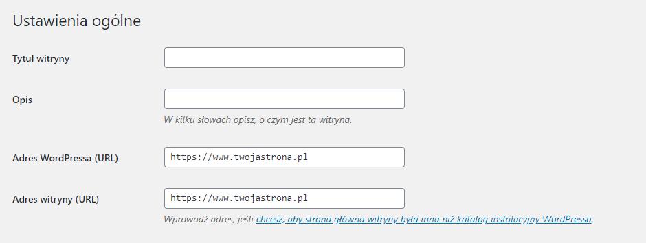 aktualizacja adresu URL w WordPressie przy instalacji certyfikatu SSL