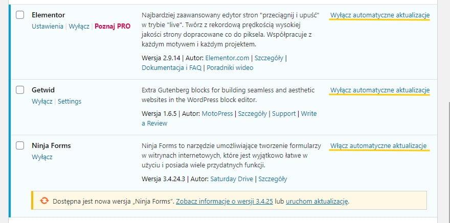 Automatyczne aktualizacje wtyczek - znaczna poprawa w nowych wersjach WordPress, począwszy od wersji 5.5.