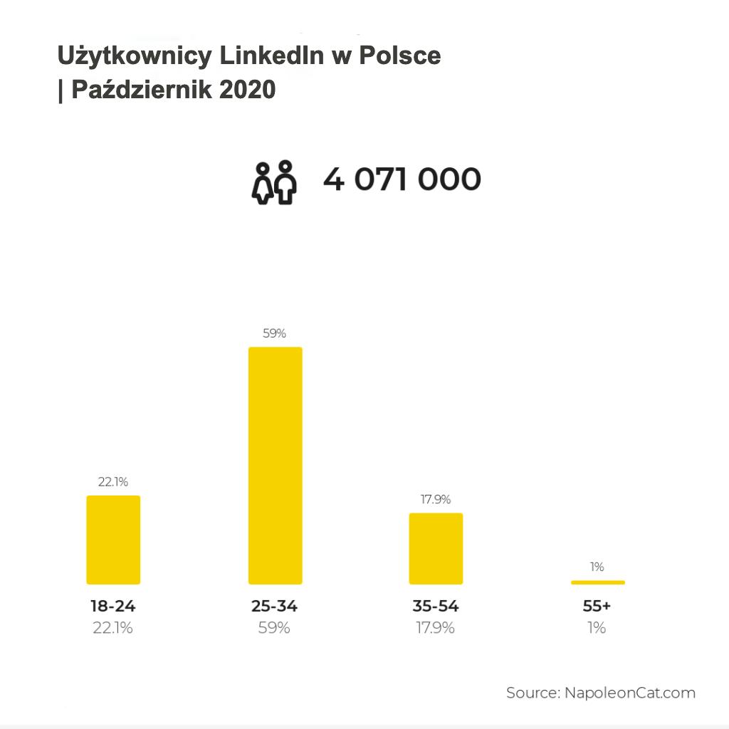 użytkownicy LinkedIn październik 2020