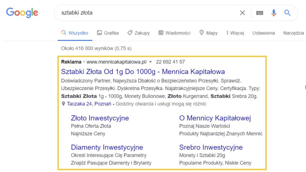 liczba reklam w Google Ads -  błędy w reklamach