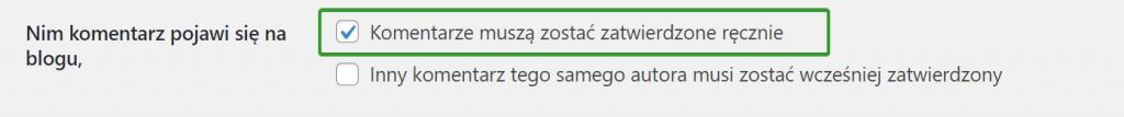 Ręczne zatwierdzanie komentarzy w WordPress