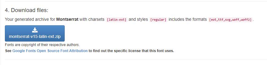 paczka z fontami Google do pobrania