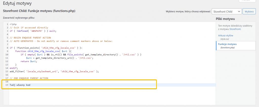 Jak dodać własny kod do pliku functions.php w WordPressie