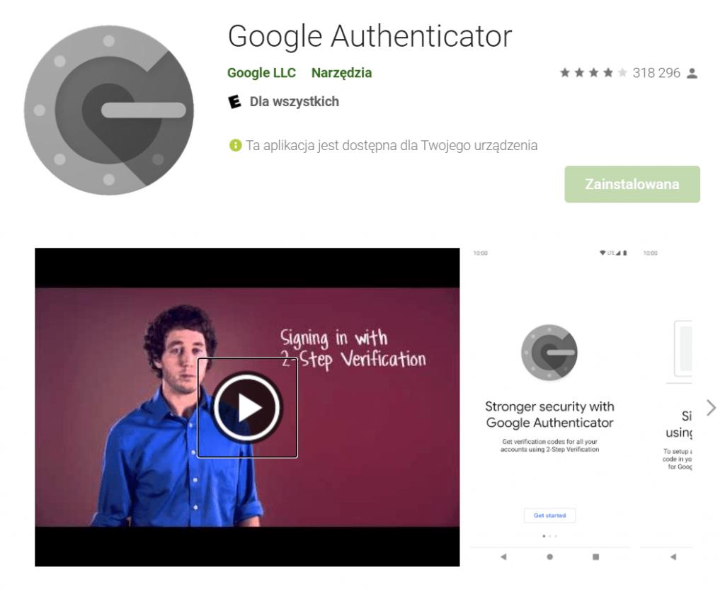 Bezpieczna poczta to dwuczynnikowa autentykacja. Google Authenticator to popularna aplikacja wspierająca ten mechanizm.