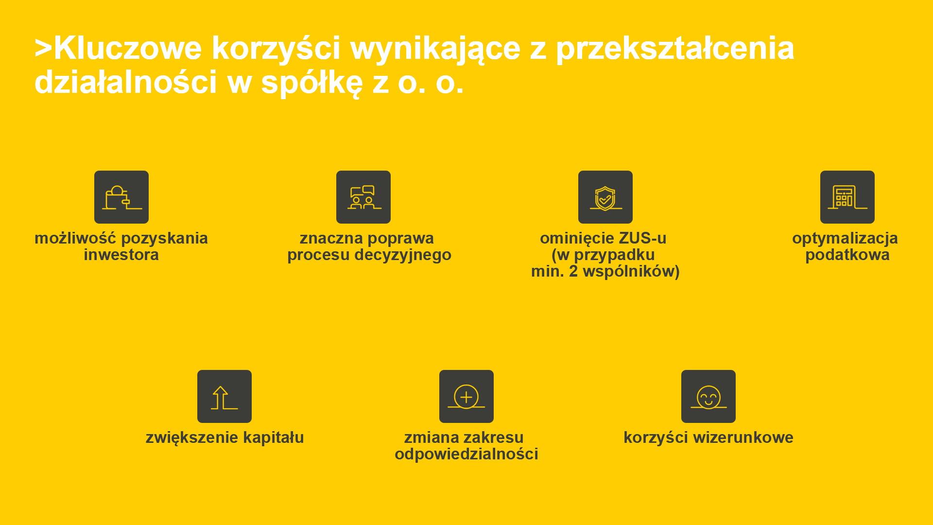 przekształcić działalność w spółkę z o.o.