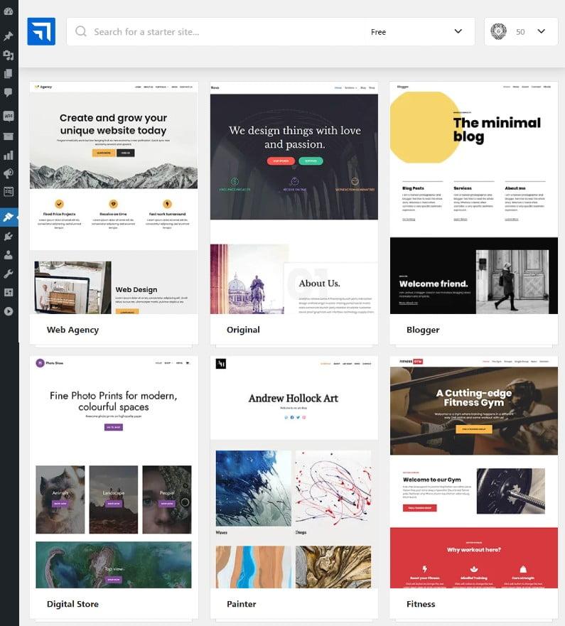 przykłady stron startowych w Neve - motywie do WordPressa